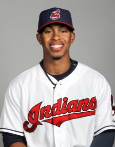 Feb 24, 2014; Goodyear, AZ, USA; Cleveland Indians infielder Francisco Lindor takes part in the annual photo day at Goodyear Ballpark . Mandatory Credit: Lance Iversen-USA TODAY Sports